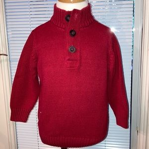 2t red Henley sweater